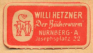 Willi Hetzner, Nurnberg [Germany] (28mm x 15mm, ca.1940s)