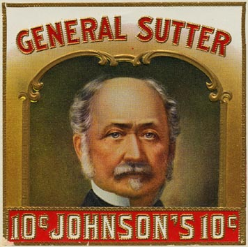 General Sutter Cigar Box Label
